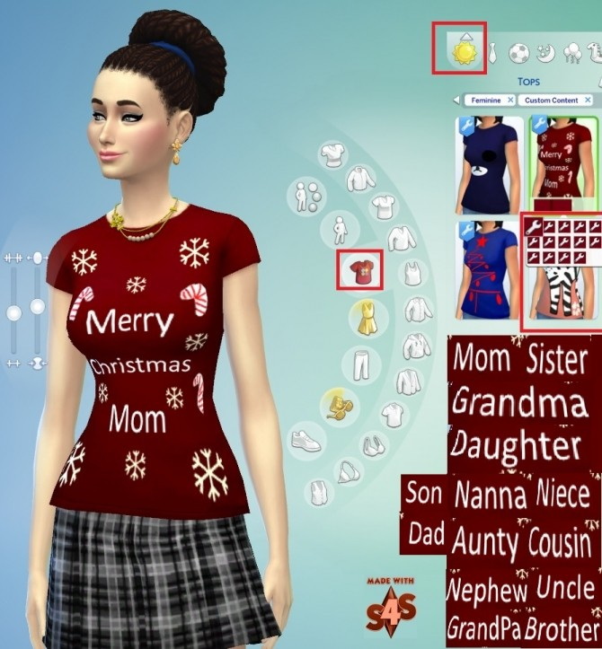 Sims 4 14 Merry Christmas T Shirts Set by wendy35pearly at Mod The Sims