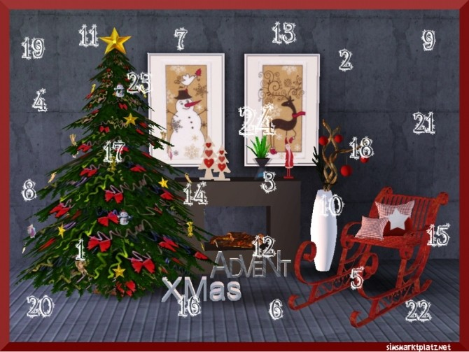 Advent calendar with gifts at Sims Marktplatz image 5611 670x503 Sims 4 Updates