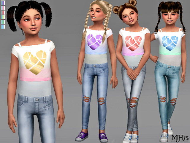 Heart Outfit Cf By Margeh75 At Sims Addictions 187 Sims 4