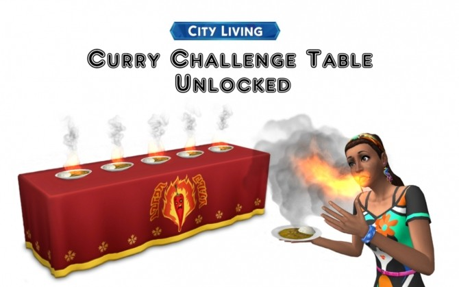 City Living Curry Challenge Table by VentusMatt at Mod The Sims image 5620 670x419 Sims 4 Updates