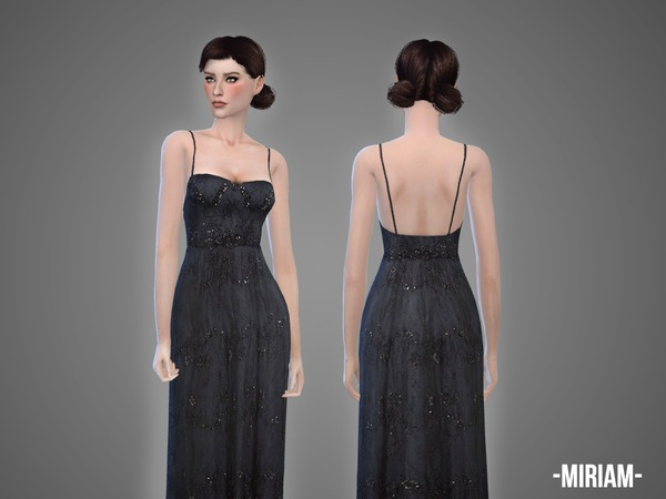Sims 4 Miriam gown by April at TSR