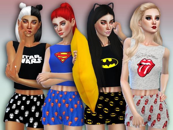 Sims 4 Sleep Wars Pajama Set by Simlark at TSR