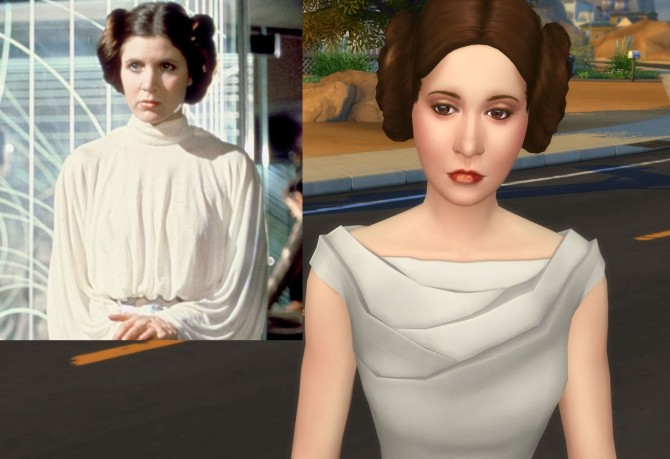 Carrie Fisher as Princess Leia Organa by Snowhaze at Mod The Sims image 5917 670x459 Sims 4 Updates