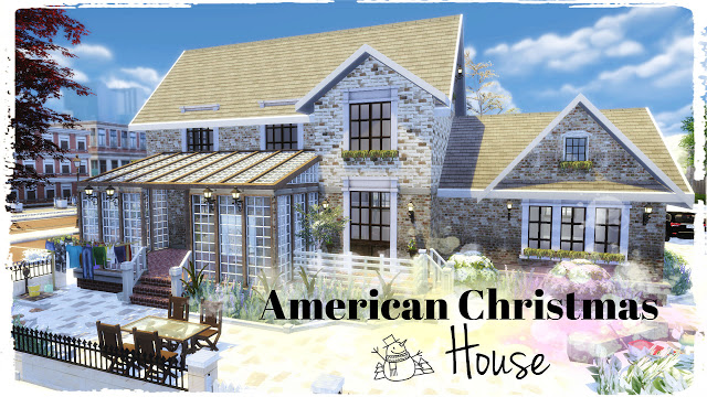 American Christmas House at Dinha Gamer image 597 Sims 4 Updates