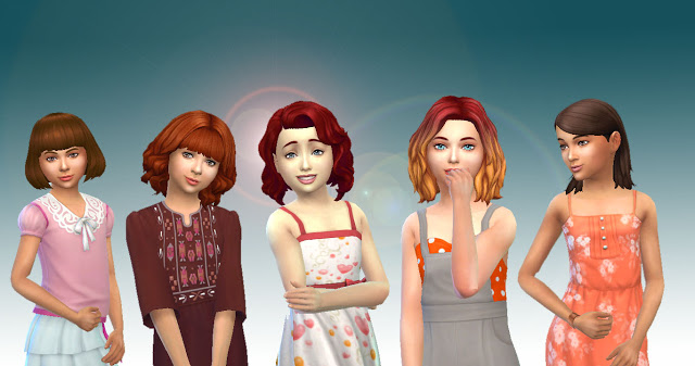 Sims 4 Girls Medium Hair Pack 3 at My Stuff