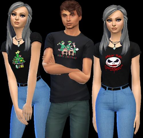 Sims 4 Christmas tops at AuriSims