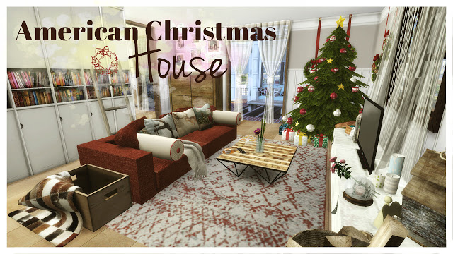 American Christmas House at Dinha Gamer image 608 Sims 4 Updates