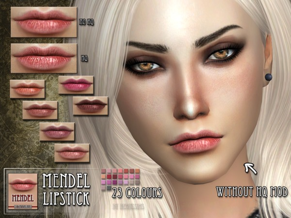 Sims 4 Mendel Lipstick by RemusSirion at TSR