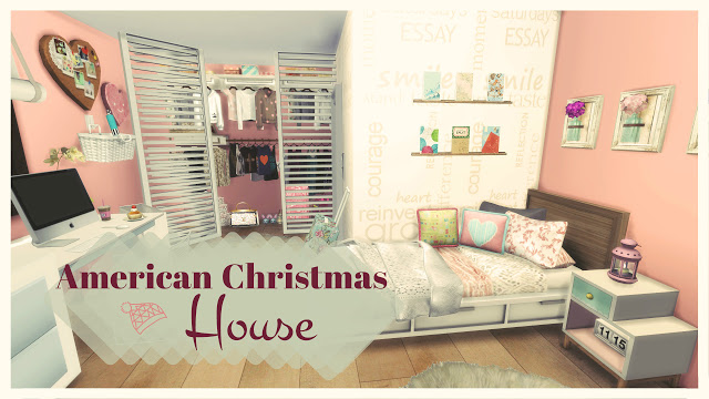 American Christmas House at Dinha Gamer image 6112 Sims 4 Updates
