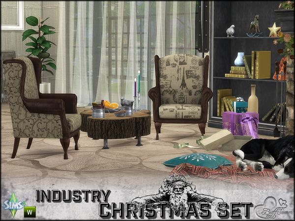 Sims 4 Industry X Mas Set by BuffSumm at TSR