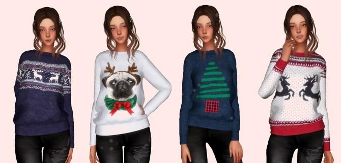 Sims 4 Christmas Jumper at Elliesimple