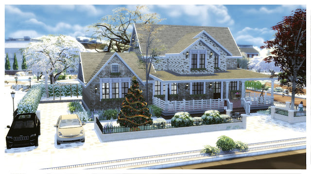 American Christmas House at Dinha Gamer image 629 Sims 4 Updates