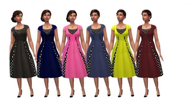 Sims 4 Vintage dresses by Dyokabb at Les Sims4
