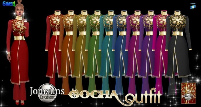 Sims 4 Gocha outfit at Jomsims Creations