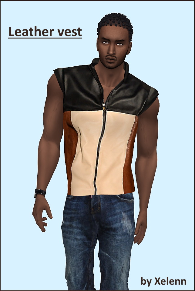 Leather vest at Xelenn image 642 Sims 4 Updates