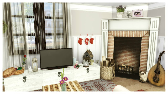 American Christmas House at Dinha Gamer image 645 Sims 4 Updates