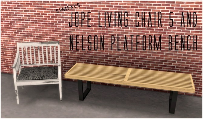 Jope Living Chair 5 & Nelson Platform Bench by Sympxls at SimsWorkshop image 6517 670x394 Sims 4 Updates