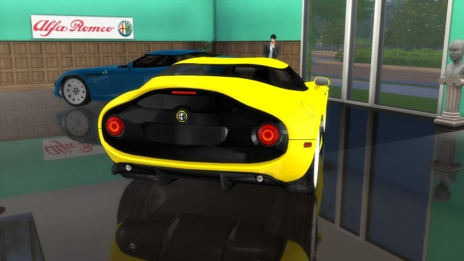 Alfa Romeo TZ3 Stradale Zagato at LorySims image 6518 670x377 Sims 4 Updates