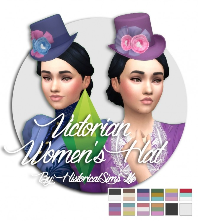Victorian Womens Hat by Anni K at Historical Sims Life image 654 670x749 Sims 4 Updates