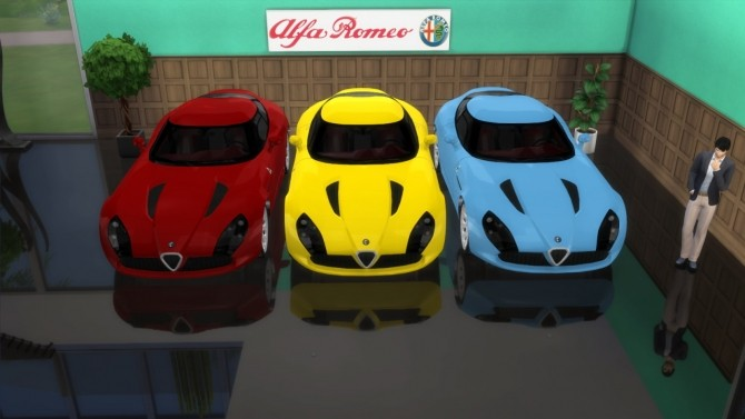 Alfa Romeo TZ3 Stradale Zagato at LorySims image 6617 670x377 Sims 4 Updates