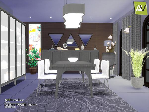 Abbott Dining Room by ArtVitalex at TSR image 670 Sims 4 Updates