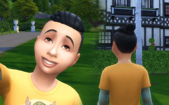 Sims 4 Under Cut Braid for Boys at My Stuff