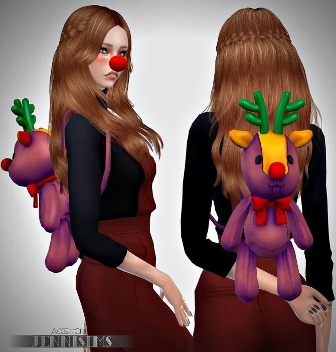 Snowflake set (Nose Rudolph, Backpack, Headband Reno, Tree) at Jenni Sims image 6810 670x702 Sims 4 Updates