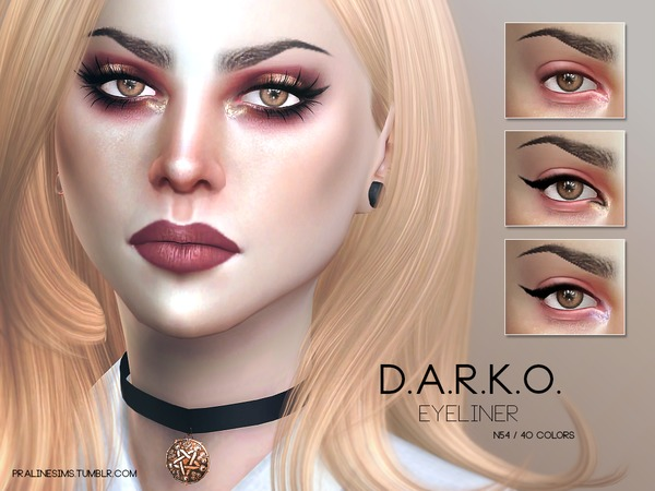 D.A.R.K.O. Eyemakeup Duo by Pralinesims at TSR image 690 Sims 4 Updates