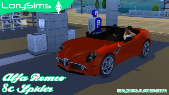Sims 4 Alfa Romeo 8c Spider at LorySims