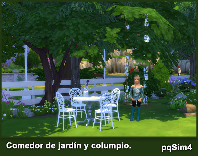 Garden diningroom and swing chair set at pqSims4 image 693 Sims 4 Updates