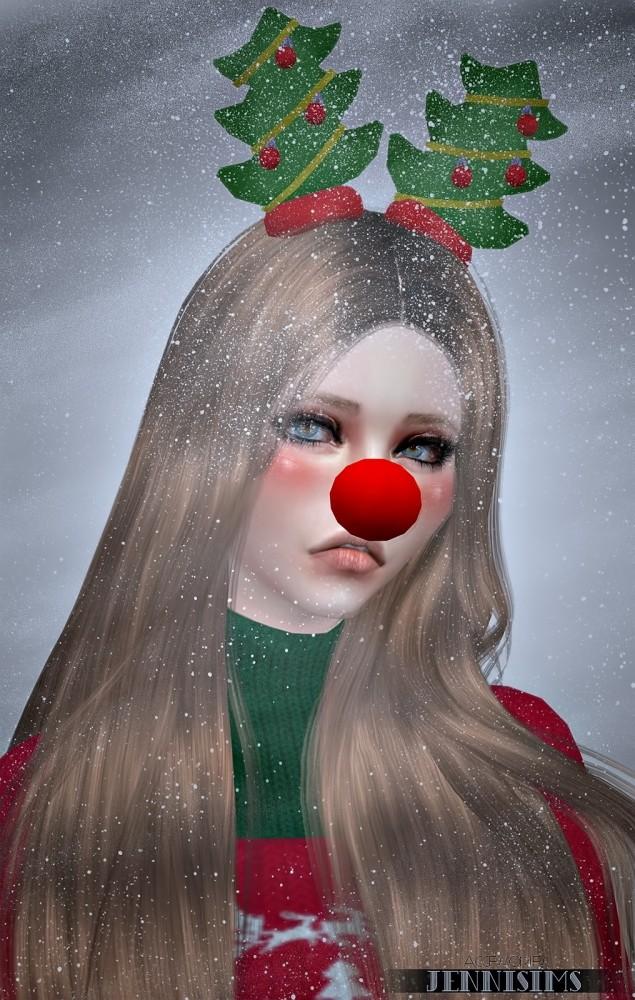 Snowflake set (Nose Rudolph, Backpack, Headband Reno, Tree) at Jenni Sims image 7010 635x1000 Sims 4 Updates