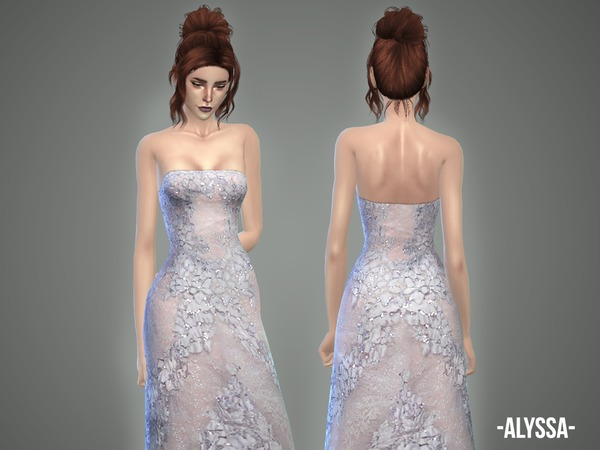 Sims 4 Alyssa gown by April at TSR