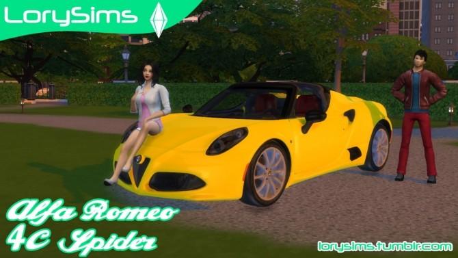 Alfa Romeo 4C Spider at LorySims image 7318 670x377 Sims 4 Updates