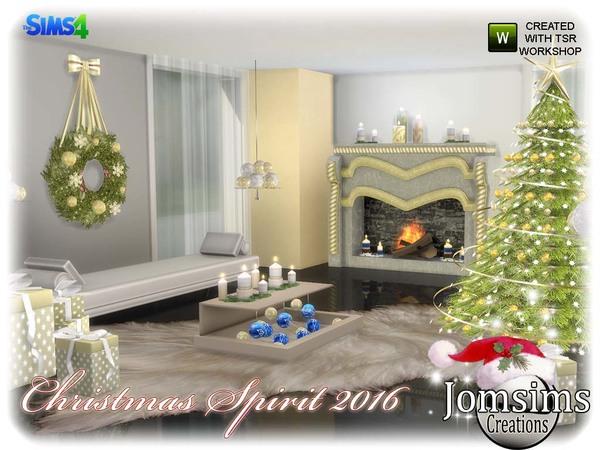 Sims 4 Christmas spirit 2016 set by jomsims at TSR