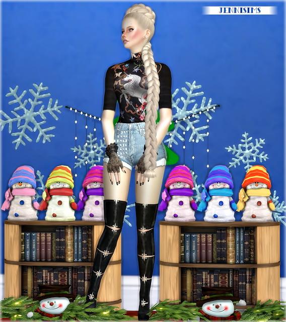 Sims 4 Decoratives Xmas Dinner Snowmans Vol5 at Jenni Sims