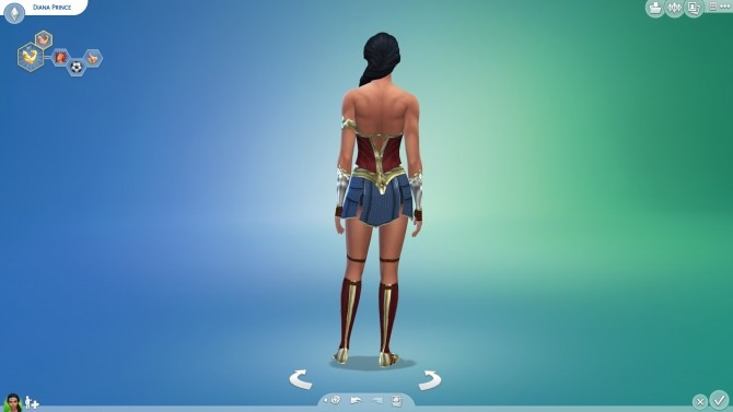 Wonder Woman Costume By Cloud2 At Simsworkshop 187 Sims 4