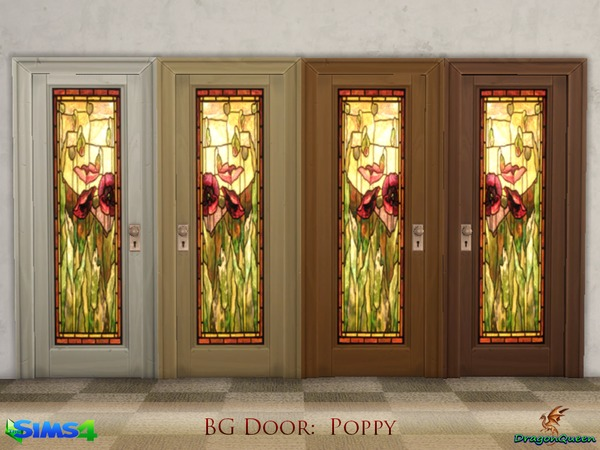 Door Set Poppy & Sunflowers by DragonQueen at TSR image 7416 Sims 4 Updates