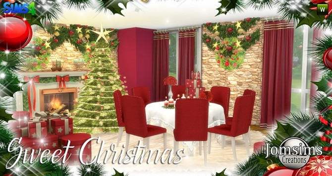 Sweet Christmas Dining Set at Jomsims Creations image 7610 670x355 Sims 4 Updates