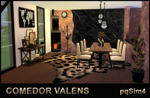 Valens Diningroom by Mary Jiménez at pqSims4 image 766 Sims 4 Updates