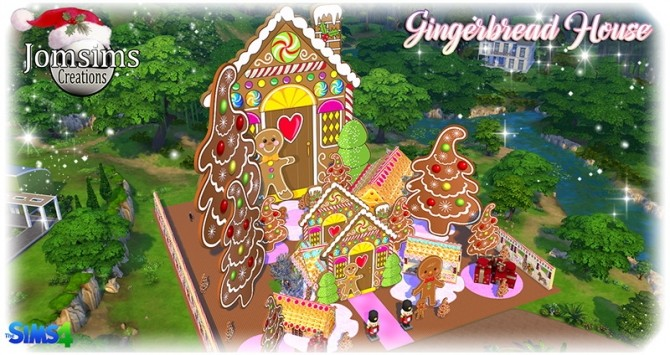 Gingerbread House At Jomsims Creations 187 Sims 4 Updates