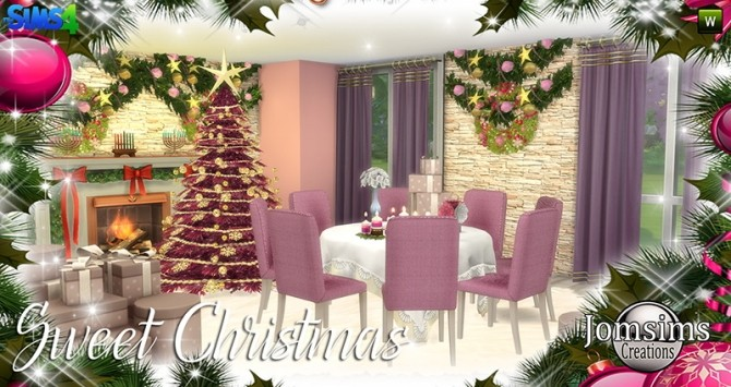 Sweet Christmas Dining Set at Jomsims Creations image 7711 670x355 Sims 4 Updates