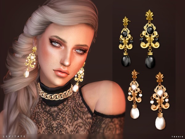 Sims 4 Levitate earrings by toksik at TSR