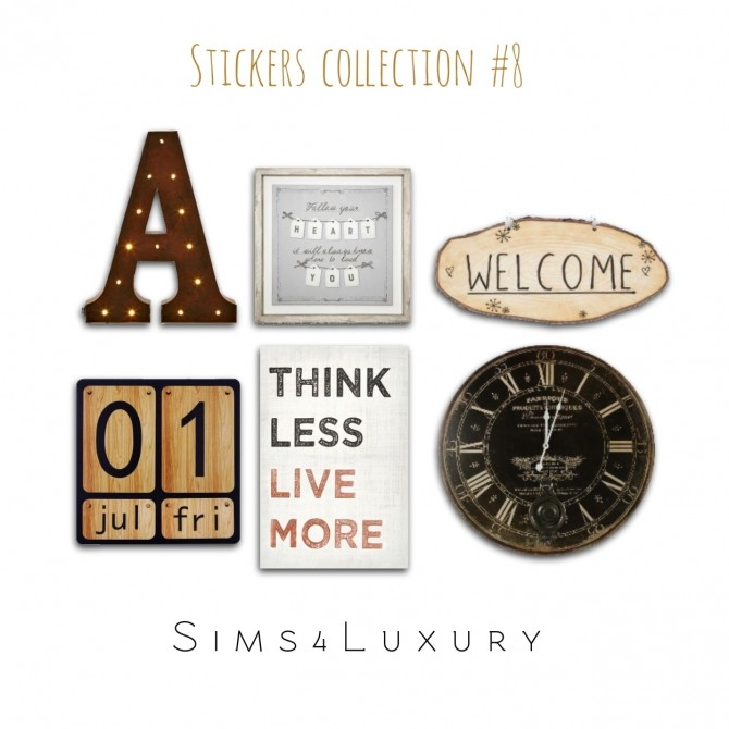 Sims 4 Stickers Collection #8 at Sims4 Luxury