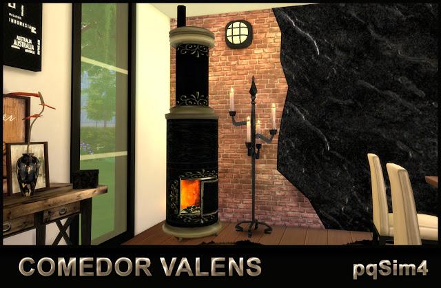Sims 4 Valens Diningroom by Mary Jiménez at pqSims4