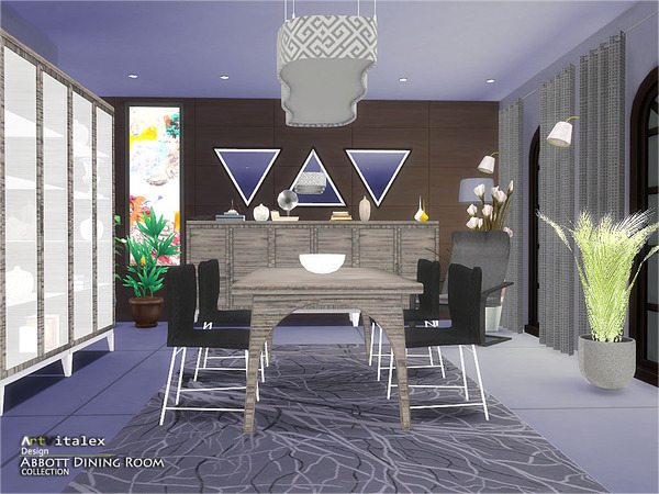 Abbott Dining Room by ArtVitalex at TSR image 780 Sims 4 Updates