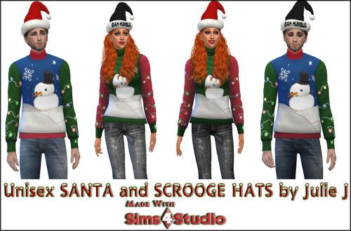 Santa Hat and Bah Humbug Hat at Julietoon – Julie J image 781 Sims 4 Updates