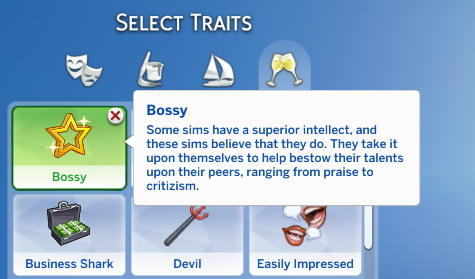 Sims 4 Bossy Trait by SimsOMedia at SimsWorkshop