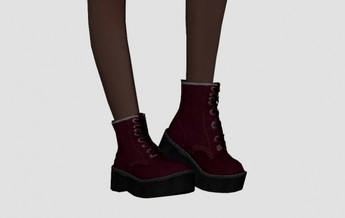 Chunky Combat Boots At Elliesimple 187 Sims 4 Updates
