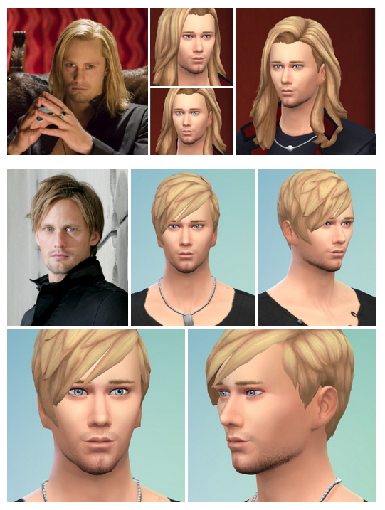 Sims 4 Alexander Skarsgard (Eric Northman, True Blood) and Alex Hair at Birksches Sims Blog