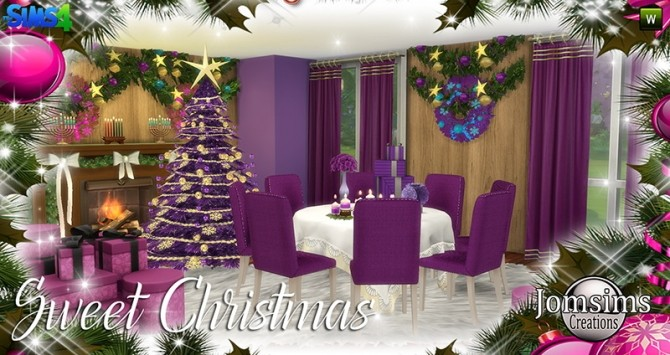 Sweet Christmas Dining Set at Jomsims Creations image 7910 670x355 Sims 4 Updates